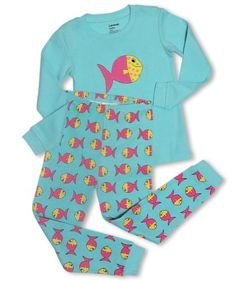 "Leveret ""Colorful Fish"" 2 Piece Pajama set -12-18M - http://www.discoverbaby.com/maternity-clothes/sleepwear/leveret-colorful-fish-2-piece-pajama-set-12-18m/"