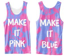"""MAKE IT PINK"" / ""MAKE IT BLUE"" Splotched Disney Sleeping Beauty Tank Top - Cakeworthystore.com"