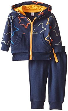 Petit Lem BabyBoys Newborn Souvenir 2 Piece Jogging Suit Navy Star 3 Months >>> Find out more about the great product at the image link. (This is an affiliate link) #BabyBoyHoodiesandActive