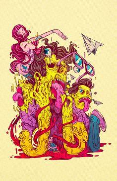 COLERA by Raul Urias, via Behance
