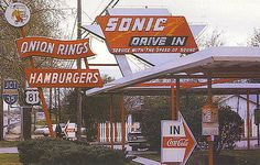 Sonic Drive-In, Texas, 1970s by bayswater97, via Flickr