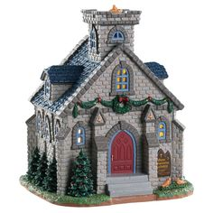 Lemax decorative villages are a holiday tradition made with old-world craftsmanship, combined with new-age technology. Department 56 Christmas Village, Christmas Tree Village, Halloween Village, Christmas Villages, Village Lemax, Villas, St Constantine, Light Building, Ceramic Houses