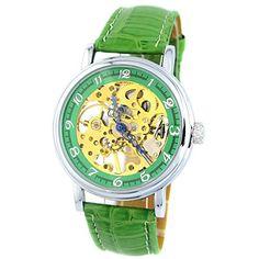 MapofBeauty Einfach und Exquisit Gold teilweise Ausgehöhlt Kunstleder Manuelle Mechanik Uhr(Grün) - http://uhr.haus/mapofbeauty/mapofbeauty-einfach-und-exquisit-gold-teilweise-3