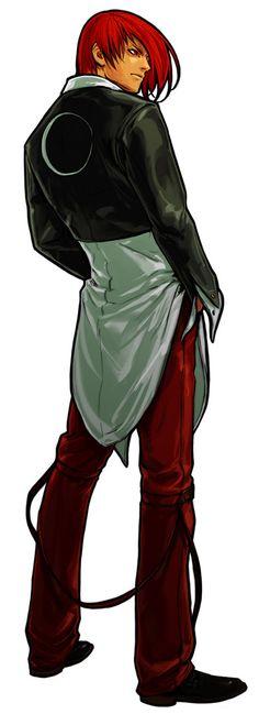 King Of Fighters XI Game Character Official Artwork Iori Yagami...Uno de los mejores caracteres de la saga #KingOfFighters #IoriYagami