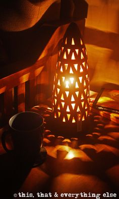 Conical Terracotta Table/Floor Lamp