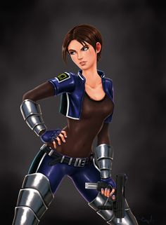 perfect dark by maltoniko on DeviantArt Steampunk Characters, Perfect Dark, Female Drawing, Female Hero, Video Game Characters, Batman Robin, Character Design Inspiration, Live Action, The Magicians