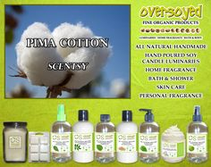 Pima Cotton (Compare To Scentsy®) Product Collection - The fragrance is a light and airy mixture of some of the most delicate and celestial floral notes available: night blooming jasmine, nodding bells of freesia and elegant and refined lilies. #OverSoyed #PimaCotton #Scentsy #Candles #HomeFragrance #BathandBody #Beauty