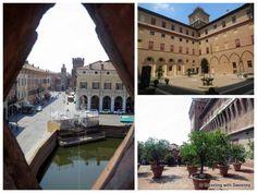 "Castello Estense — moat, courtyard and orange gardens - ""5 Favorite Highlights of Ferrara Italy"" by @Catherine Sweeney"