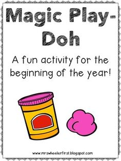This is a fun activity to do on the first day of school! Students will wish for a great year, and when they mix their play-doh, they will find a special… Back 2 School, 1st Day Of School, School Play, Beginning Of The School Year, Get To Know You Activities, First Day Of School Activities, Kindergarten Themes, Classroom Activities, Play Doh Colors