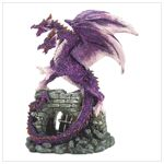 This figurine would look perfect in my cousins room. She is a good mixture of girly and tomboy. Her favorite color is purple but she is obsessed with dragons. It was like this figurine was made for her.