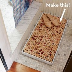 Recycle Reuse Renew Mother Earth Projects: how to make a Wine Cork Coaster/ Bath Mat