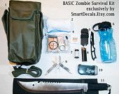 Zombie Apocalypse Survival Kit BASIC Necessities Military Outbreak