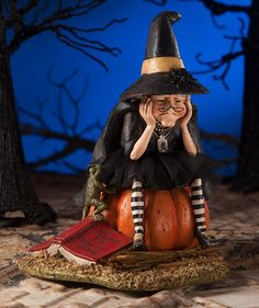 Fear of Flying Witch Figure - Bethany Lowe – Classy Halloween Fairy Halloween Costumes, Halloween Scene, Halloween Decorations, Halloween Clay, Halloween Witches, Halloween Table, Classy Halloween, Retro Halloween, Halloween Ideas