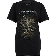 Black Metallica print band T-shirt T Shirt Vest, T Shirt And Shorts, Sweatshirt, Hoodie, Metallica, Rock T Shirts, Rock Tees, T Shirt Noir, Boyfriend T Shirt