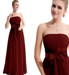 Strapless High Waist Bridesmaid Dress Floor Length Bridesmaid A-Line Wedding Dresses | Buy Wholesale On Line Direct from China