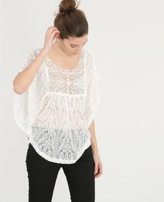 T-shirt dentelle - Un t-shirt tout en délicatesse qui surfe sur la tendance gipsy bohème.