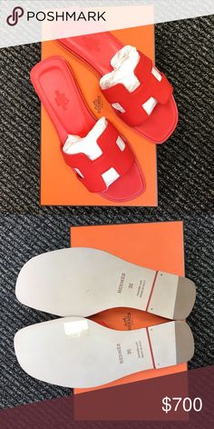 61df0a35312 HERMES Oran Sandal Brand new. Comes with box and dustbags.
