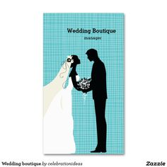 * Sold this #wedding #boutique #businesscards to Japan. Thanks for you who purchased this. Check more at http://www.zazzle.com/celebrationideas/silhouette+wedding+couple