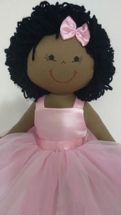 Rag doll Black Ballerina 2 of 2 African American Dolls, American Rag, Diy And Crafts, Crafts For Kids, Arts And Crafts, Homemade Dolls, Black Ballerina, Fabric Toys, Pretty Dolls