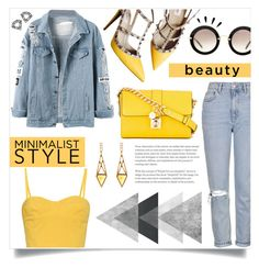 """#yellow #hello"" by llpjrll on Polyvore featuring Topshop, Valentino, Miu Miu, Tomas Maier, Dolce&Gabbana, Myia Bonner, Old Navy and Monique Péan"