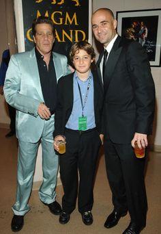 Glenn, his son Otis & Andre Agassi