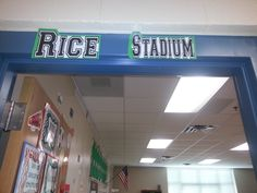 Above the door decoration- Sports themed classroom