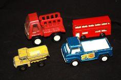 Vintage Set of 4 Die Cast Miniature Vehicles by WillODellAntiques