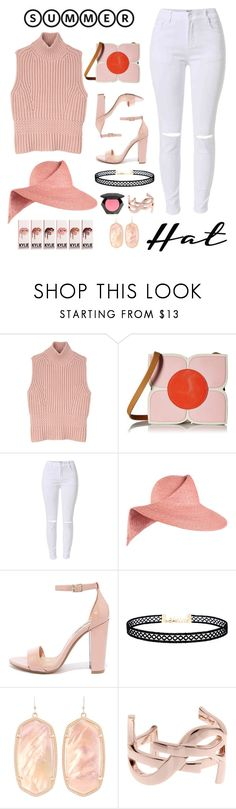 """Summer hat 2.0"" by jennifer-allison-bulnes-apolo ❤ liked on Polyvore featuring Diesel Black Gold, Orla Kiely, Eugenia Kim, Steve Madden, LULUS, Kendra Scott, Yves Saint Laurent, H&M and summerhat"