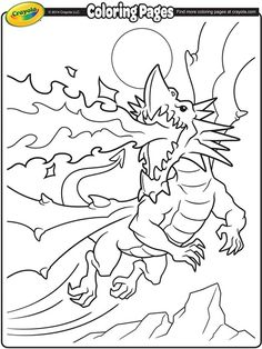 Get creative and give this fire-breathing dragon some color!