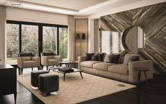 Cipriani Homood x Denino Furniture living room interior design fantastic high-end detail furniture.