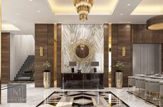 Omar Maghrabi a Behance-ről Drawing Room Interior, Interior Design Living Room, Living Room Designs, Luxury Homes Interior, Luxury Home Decor, Home Entrance Decor, Entrance Hall, Hallway Designs, Lobby Design