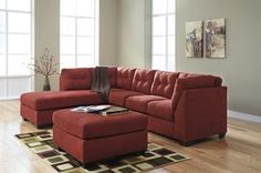 LAF Corner Chaise Sectional by Benchcraft. Get your Maier - Sienna - 2 Pc. LAF Corner Chaise Sectional at Pruitt's Fine Furniture, Phoenix AZ furniture store. Red Sectional Sofa, Fabric Sectional, Leather Sectional, Sleeper Sofa, Couches, Sofa Beds, Sofa Furniture, Living Room Furniture, Basement Furniture