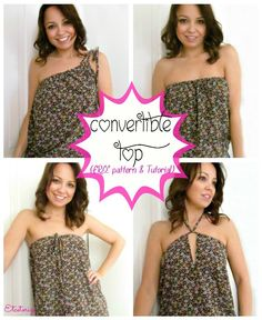 Easy to sew top!  Free sewing pattern and instructions~