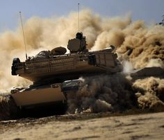 M1A1 Abrams tank plowing and clearing mines