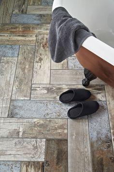 herringbone pattern wood effect tiles