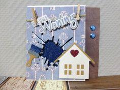 @ Nieuwe woning gefeliciteerd, huis, spetter, kwast