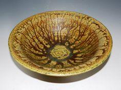 Rainforestgreen terracotta bowl by MarkCampbellCeramics on Etsy, $55.00