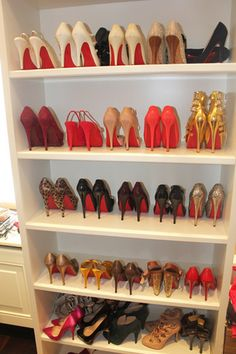 Closet filled with Christian Louboutin...What ever classy woman should have...