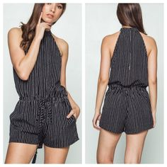 Y'all already know my obsession with crisp and classic Black and white. {Sigh} •  •  This romper completely nailed it. Pinstripes, keyholes in the back, high mock neck, and tassle tied waste. It's perfect!! This brand runs true to size. Arrives Wednesday. Small, med, & large available. Preorder for $35. •  •  •  Comment or DM with size and email spelled out for secure PayPal invoice. •  •  •  •  •  •  •  #fashion #fashiontrend #fashiondaily #fashionlovers #fashioninspo #fashionista…