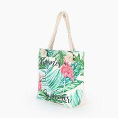 Hot Flamingo Printed Bag – Baqala Store Beach Tote Bags, Canvas Tote Bags, Best Beach Bag, Summer Beach, Summer Fun, Womens Beach Bag, Oversized Beach Bags, Shoulder Handbags, Shoulder Bag