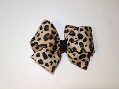 Cheetah Print Hair Bow...