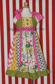 Girls Circus Themed Dress Twirl dress. by JoyfullyStitched4You, $40.00