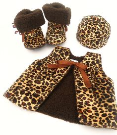 Baby Photo Prop  Leopard Fur Baby Gift Set. Baby by funkyshapes, $70.00