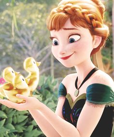 Never not repin Anna and ducklings. I mean, look at that ADORABLE side-ways smile!