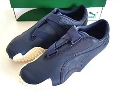 PUMA MOSTRO OG PEACOAT NAVY BLUE OFF WHITE MENS SIZE TRAINERS SNEAKERS UK  9.5 be5db5b2f