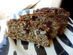 [gluten free] zucchini banana walnut chocolate chip bread