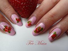 NAIL ART à la fraise de Féemain
