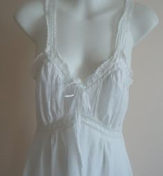 Vintage 1930s Mae Rook Toronto Model Fine White Cotton Biaz Cut Nightgown on Etsy, $96.21 CAD