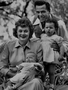 Lucille Ball And Desi Arnaz | Actress Lucille Ball with Husband Desi Arnaz and Children Desi Arnaz ...