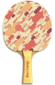 """""""UberCamo"""" ping pong paddle by Uberpong. Get yours here for only $25: https://www.uberpong.com/ubercamo-ping-pong-paddle  #pingpong #tabletennis #swag #giftideas #fun #colorful #graphicdesign"""
